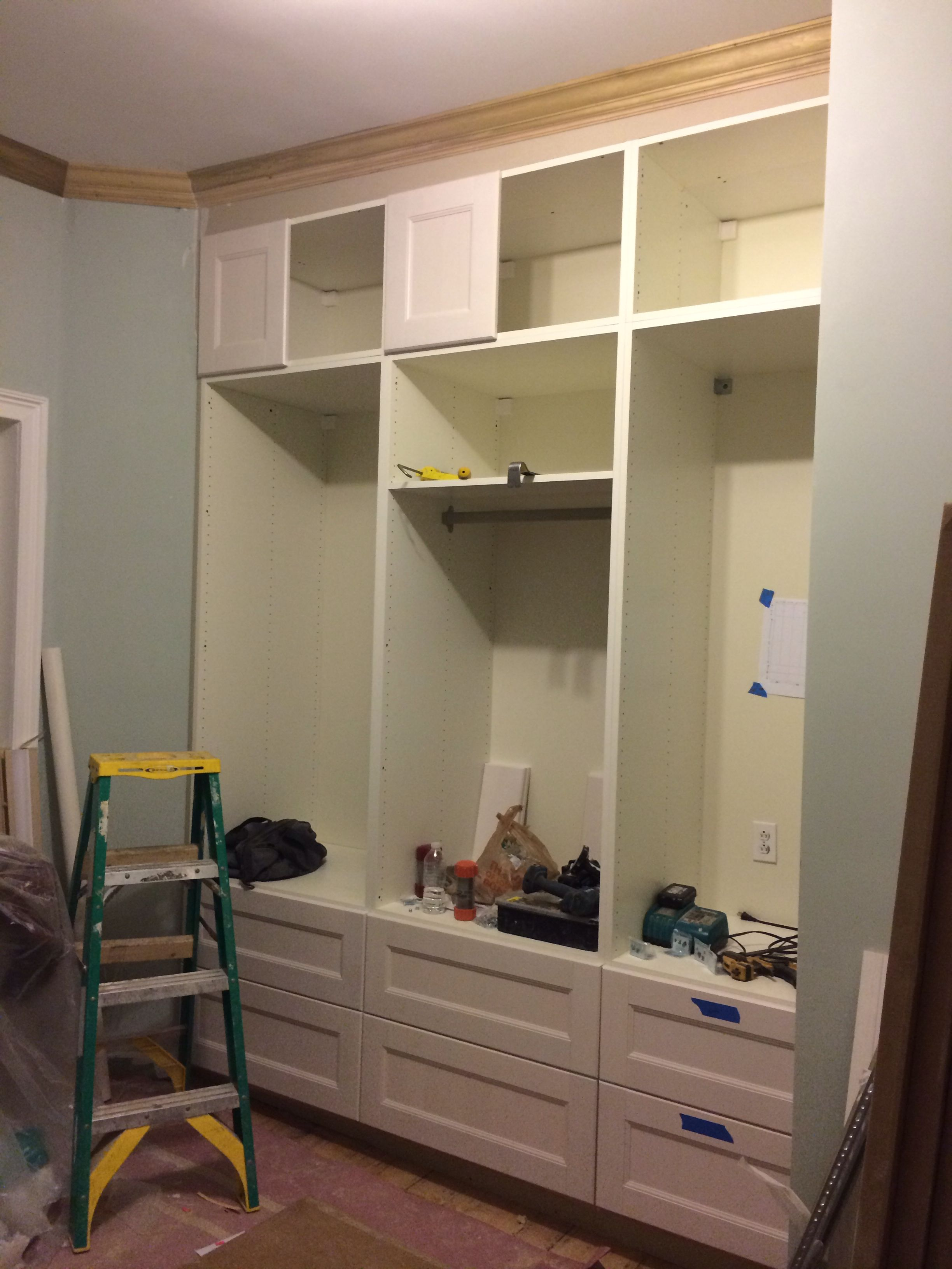 Closets For Baby Room (Ikea Akurum Cabinets With A Ramsjo Doors).