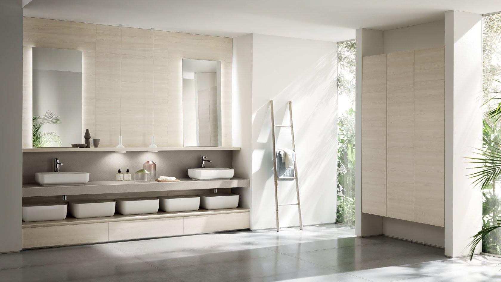 Ki Bathroom design by Nendo. The bathroom are