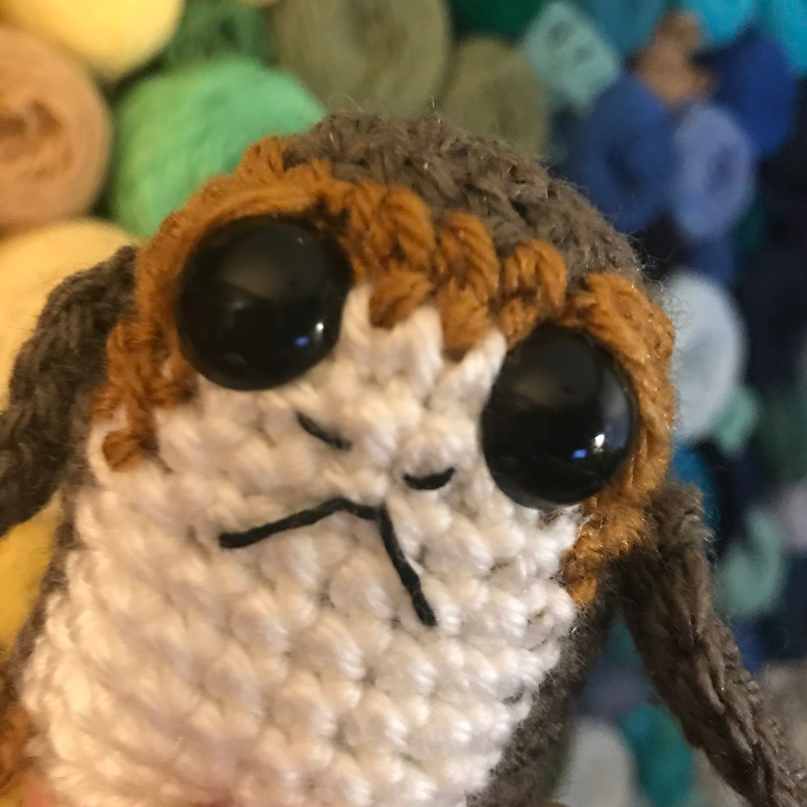 Free Amigurumi Star Wars Porg The breakout star from the new Star ...