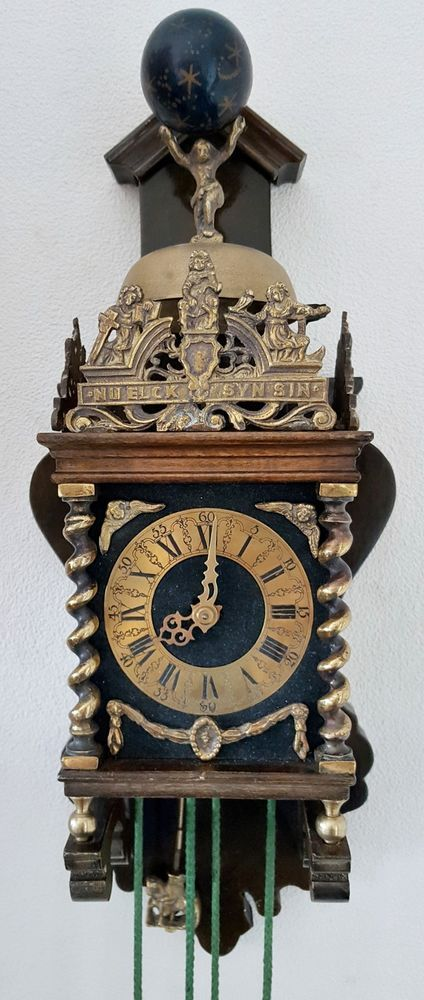 On Ebay This Rare Antique Dutch Zaanse Wall Clock Rope