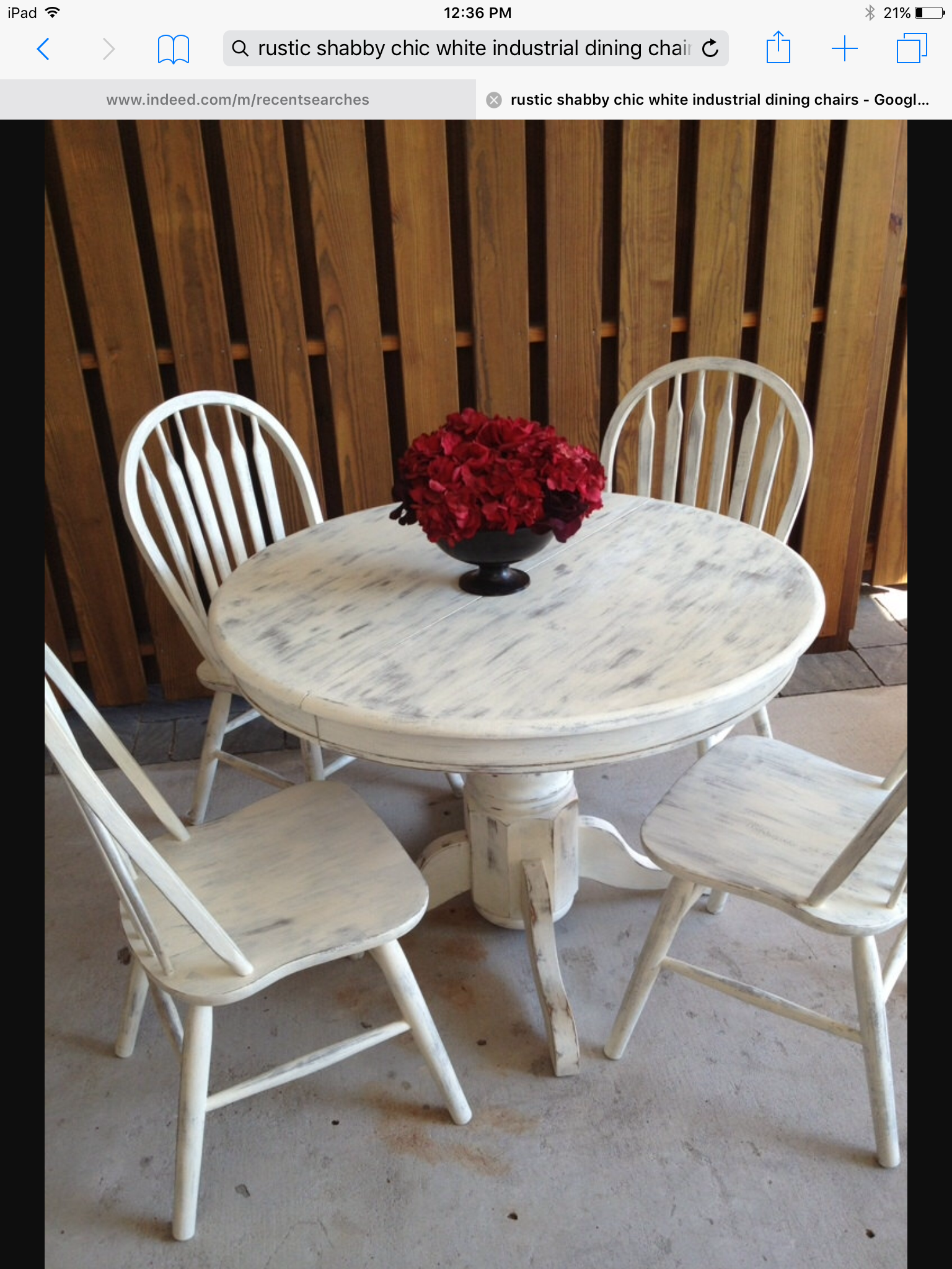 Shabby Chic Round Dining Table Room Tables