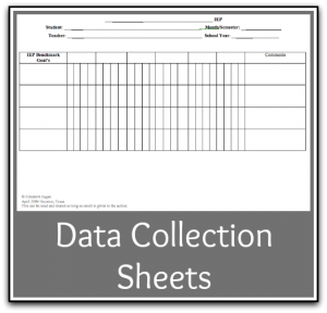 These free downloadable, printable data collection sheets can be ...