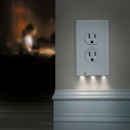 The Snap On Night Angel Led Night Light Outlet Cover Adds Lighting