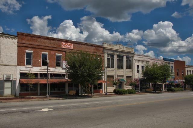 Montezuma Ga Historic Commercial Storefronts Dooly Street