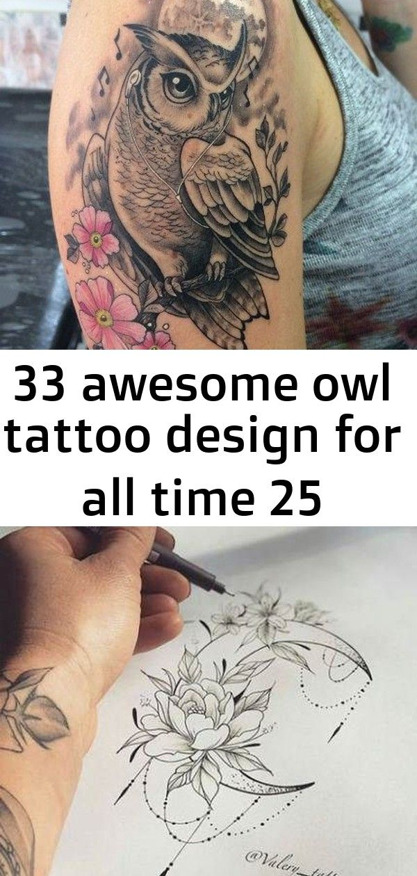 33 awesome owl tattoo design for all time 25