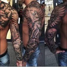 Bildresultat för tattoo sleeve heaven hell