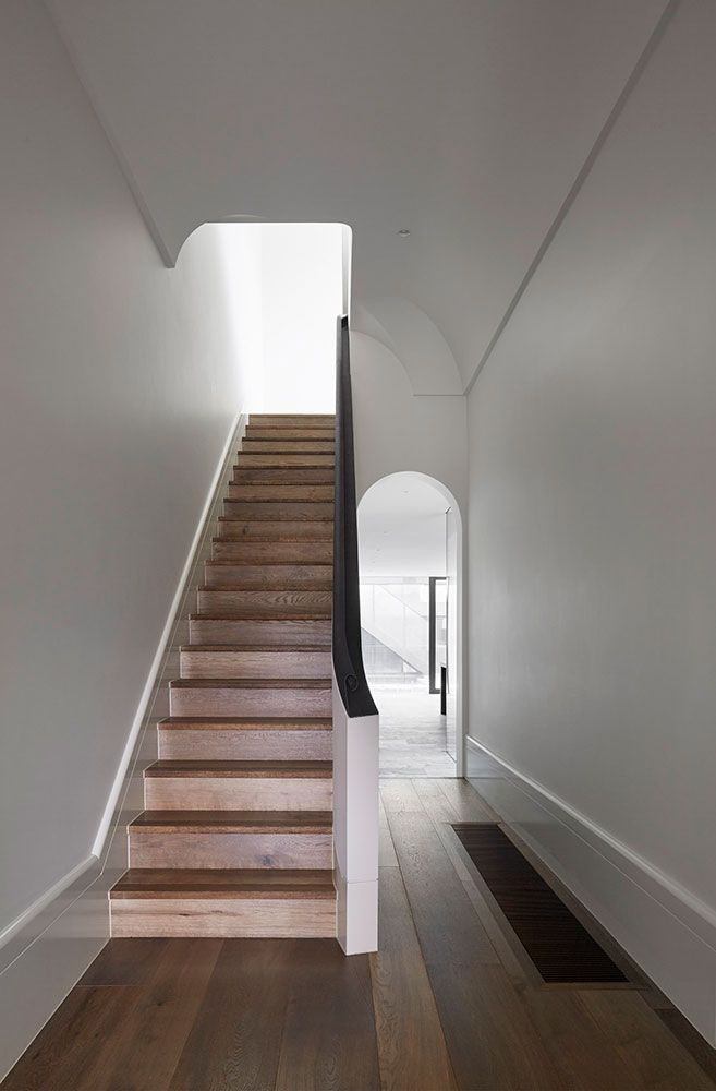 New Stair With Reduced Detailing For Period Home Is Easier To Traverse Than  Original Narrow Staircase