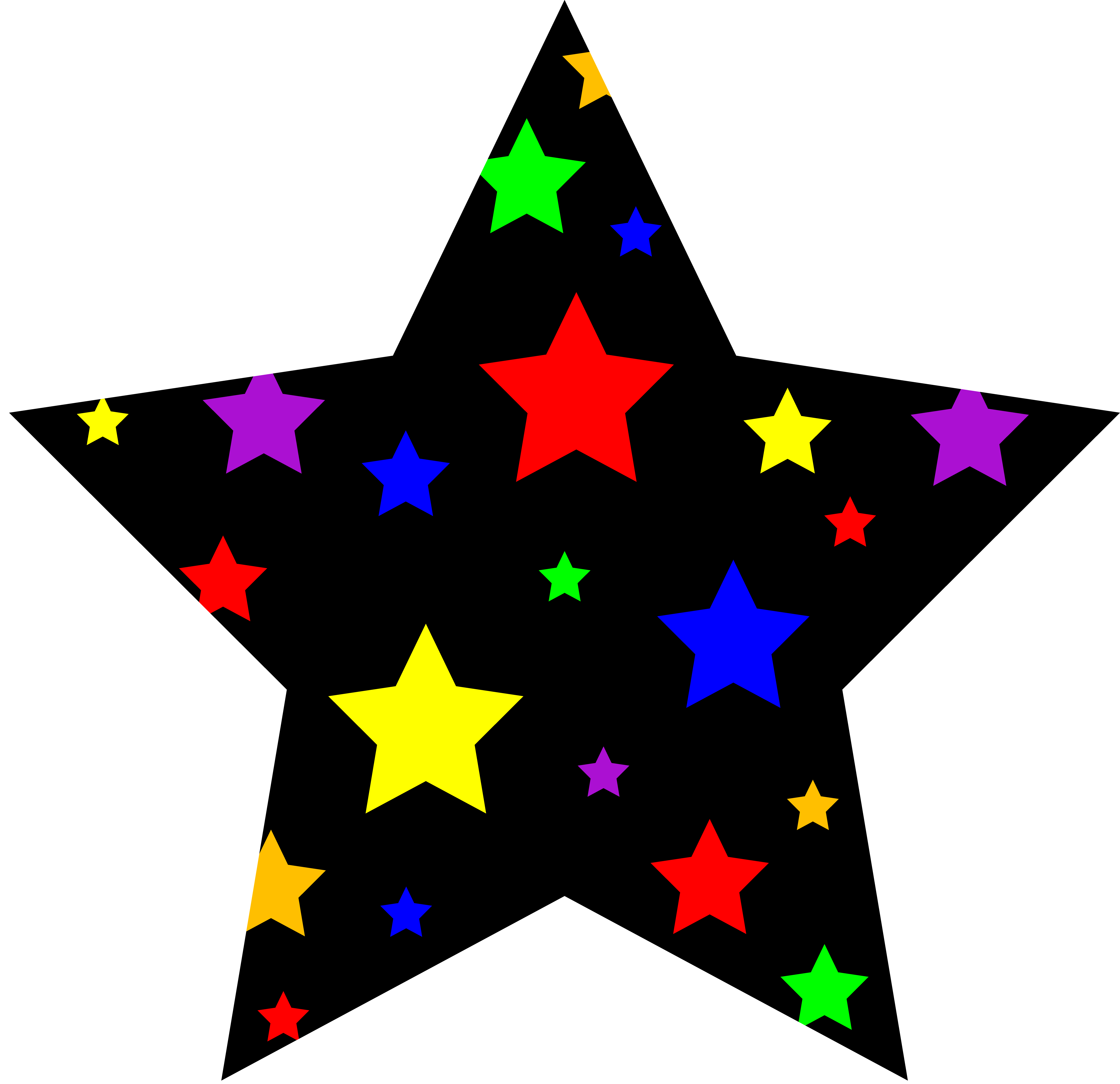 4th_july_new_year_star_rainbow.png (6598×6383) Free clip