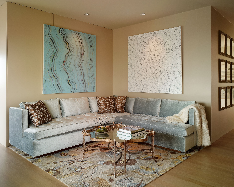Custom Corner Sectional | Credit: Alice Cottrell Interior Design And Rick  Rozas Design