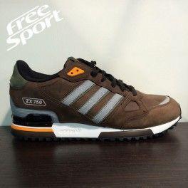new styles a8805 aa8cb Adidas ZX750 Marrone in Pelle G64040