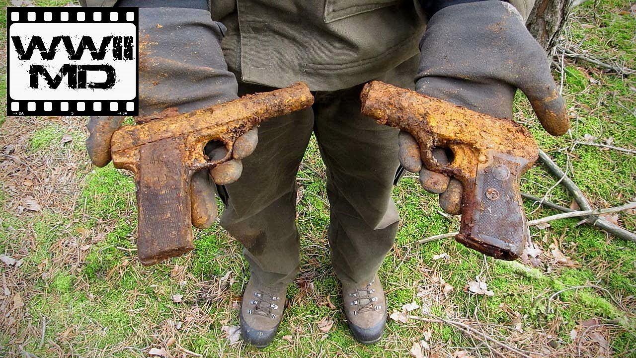 World War II Metal Detecting - German Pistols - Eastern Front