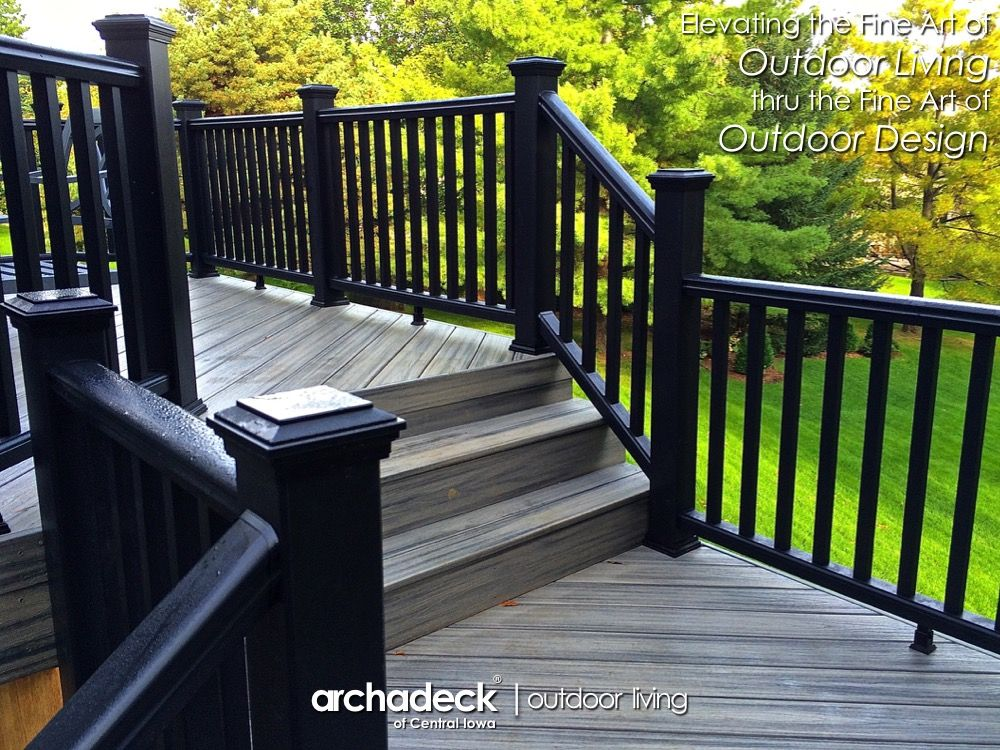 Best Black Trex Transcend Railing On Trex Transcend Island Mist 400 x 300