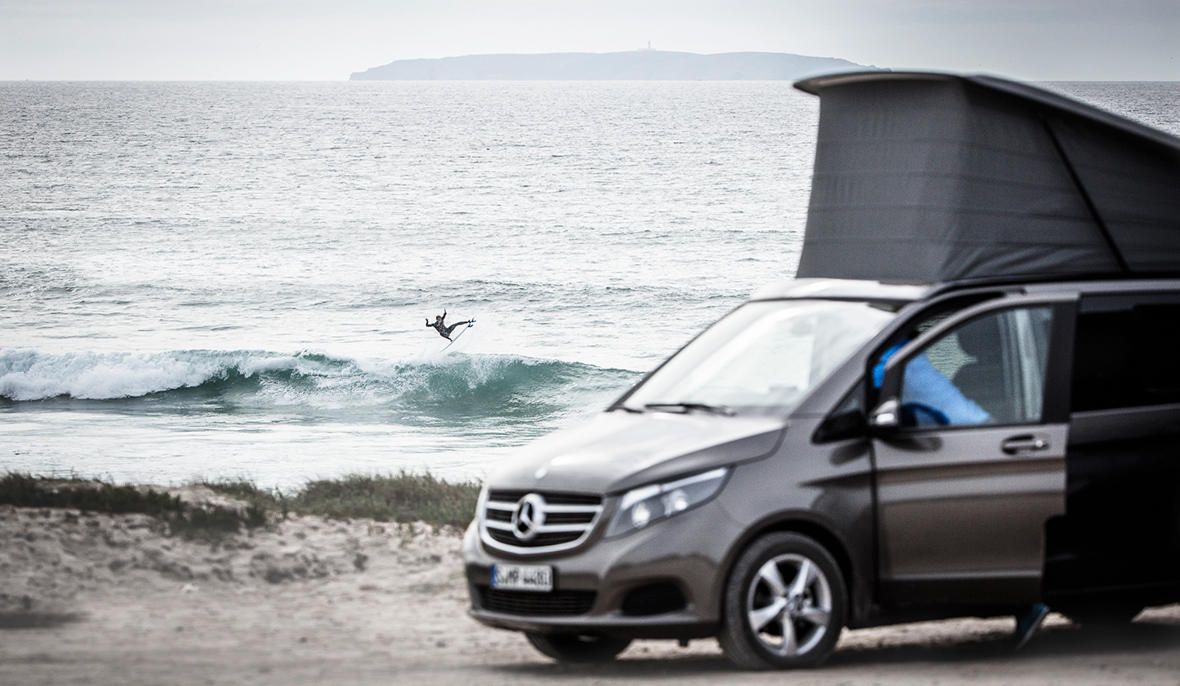 Start Your Adventure Beach Surf Spain Tarifa Andalusia Travel Vanstyle Vanlife Campervan Malaga Rental Hire Ca Mercedes Benz Vans Surfing Benz