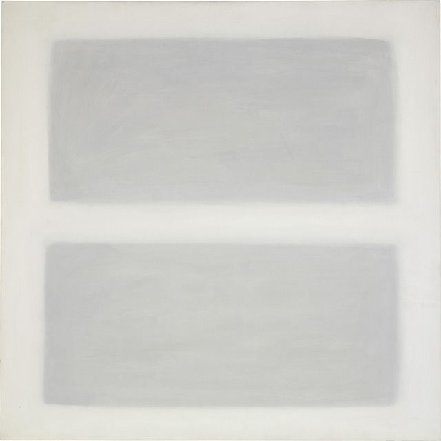 "oil on canvas; 40"" x 40"" (101.6 cm x 101.6 cm);  ; © 1958 Agnes Martin /Artists Rights Society (ARS), New York /"