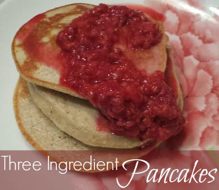 21 Day Fix Approved, 3 ingredient pancakes! #pancakes #healthy