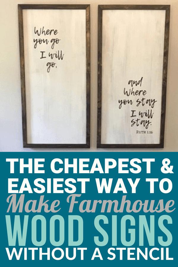 Cheap And Easy Diy Farmhouse Wood Signs A Step By Step Diy Tutorial Farmhouse Signs Diy Farmhouse Wood Sign Diy Wood Signs