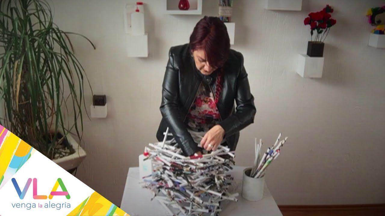 Lámpara colgante con revistas en Chuladas Creativas
