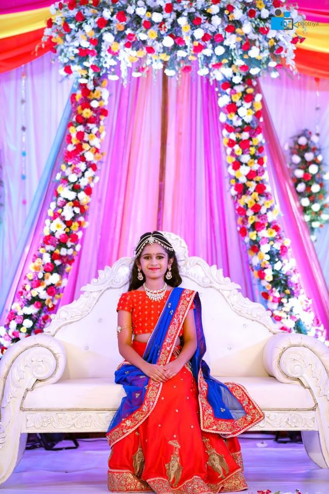 Hiya Reddy S Magnificent Half Saree Ceremony As Grand As A Wedding