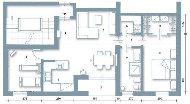 """Casa con 10 """"trucchi"""" 83 mq sembrano più grandi"""