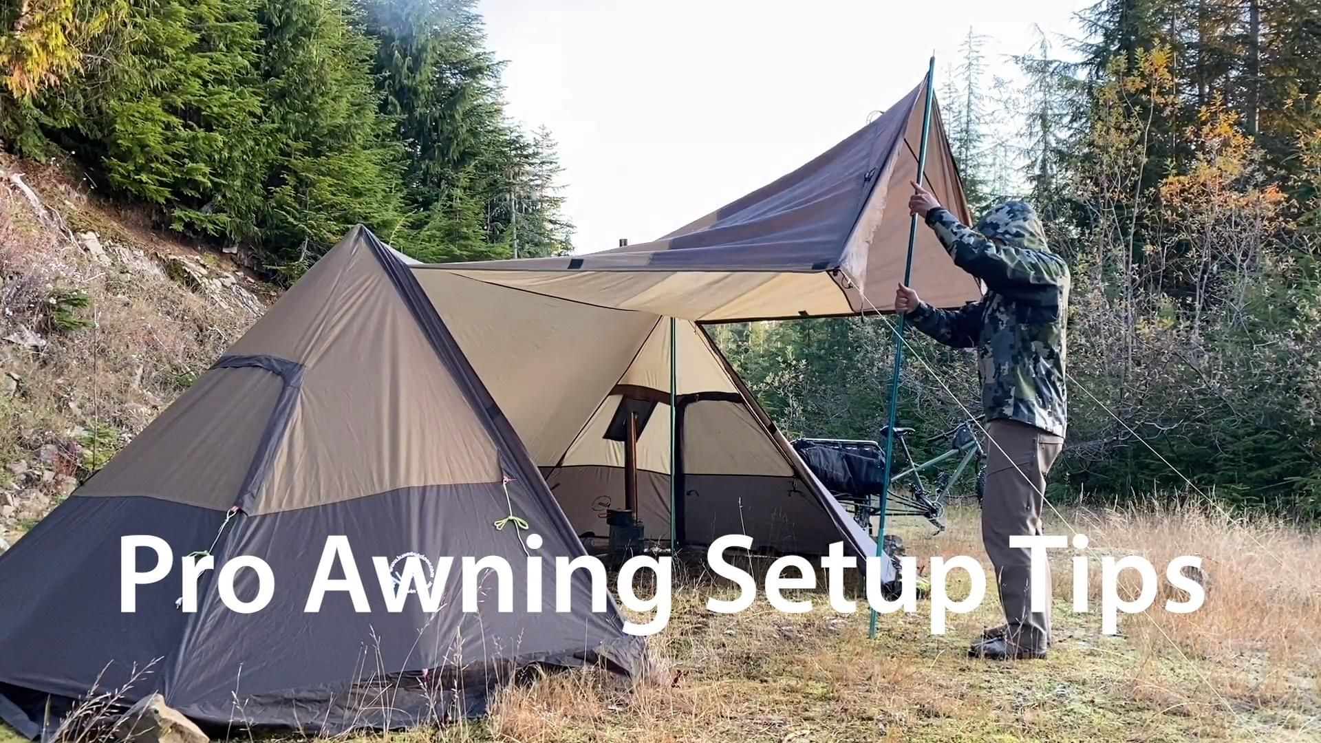 Twinpeak Awning Tent 5p With Wood Stove Jack Video Video In 2020 Tent Fishing Tent Camping Must Haves