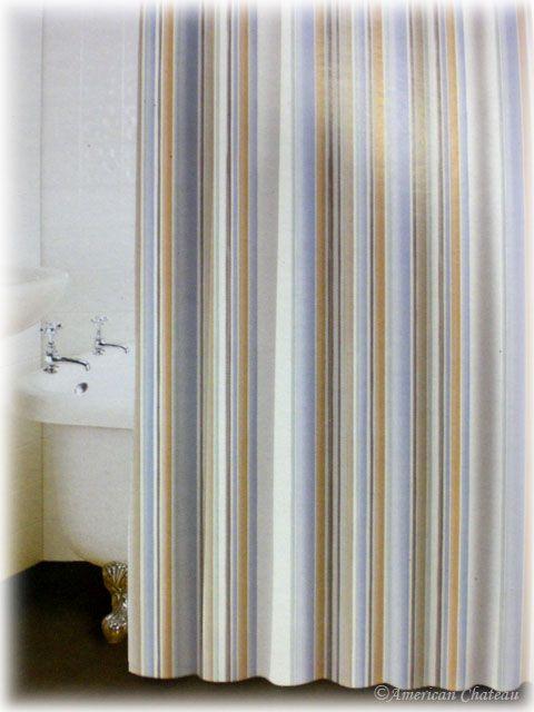 Beach Shower Curtain Beach Striped Bath Bathroom Fabric Shower