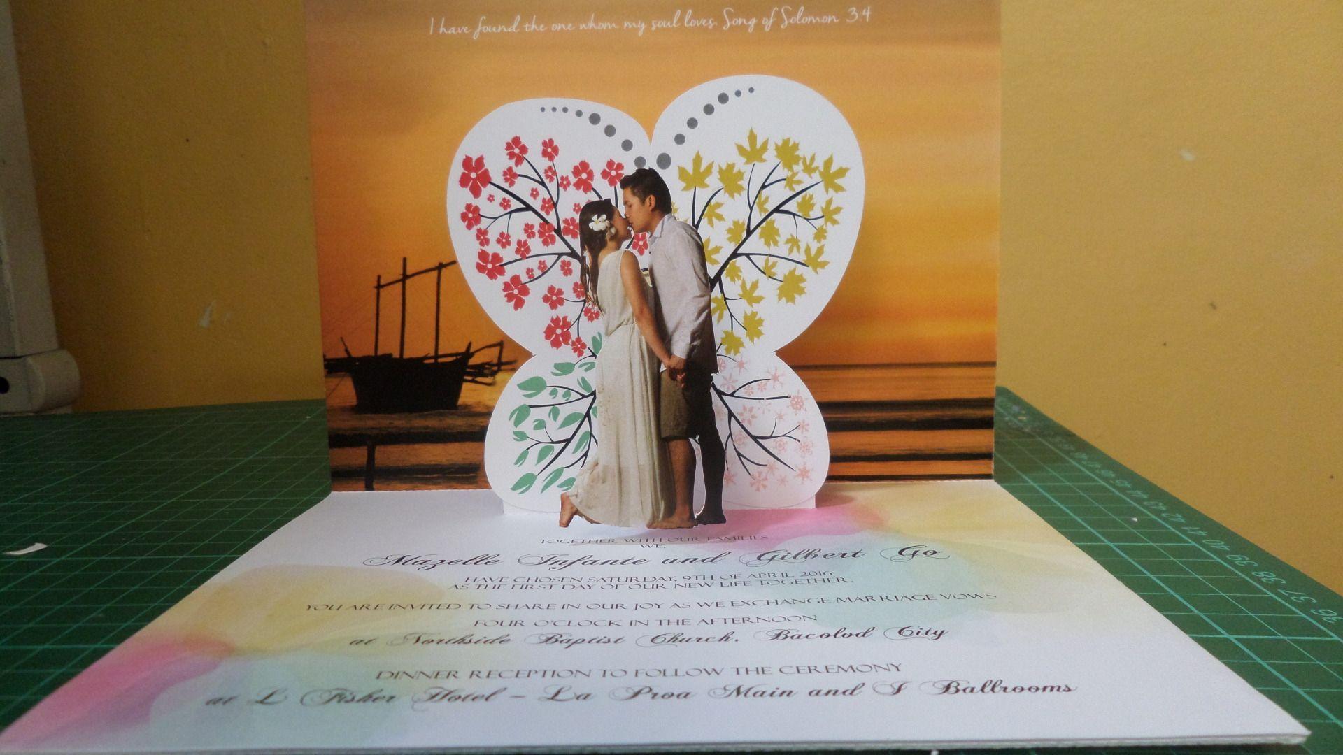 3d Pop Up Wedding Card Wedding Card Pop Up Card Greeting Card No 10 Pop Up Card Templates Wedding Cards Pop Up Cards