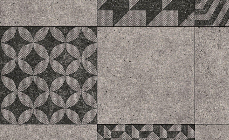 Sol Vinyle Texmark Carreau Ciment Geometrique Noir Rouleau 4 M Sol Vinyle Carreaux Ciment Lino Sol