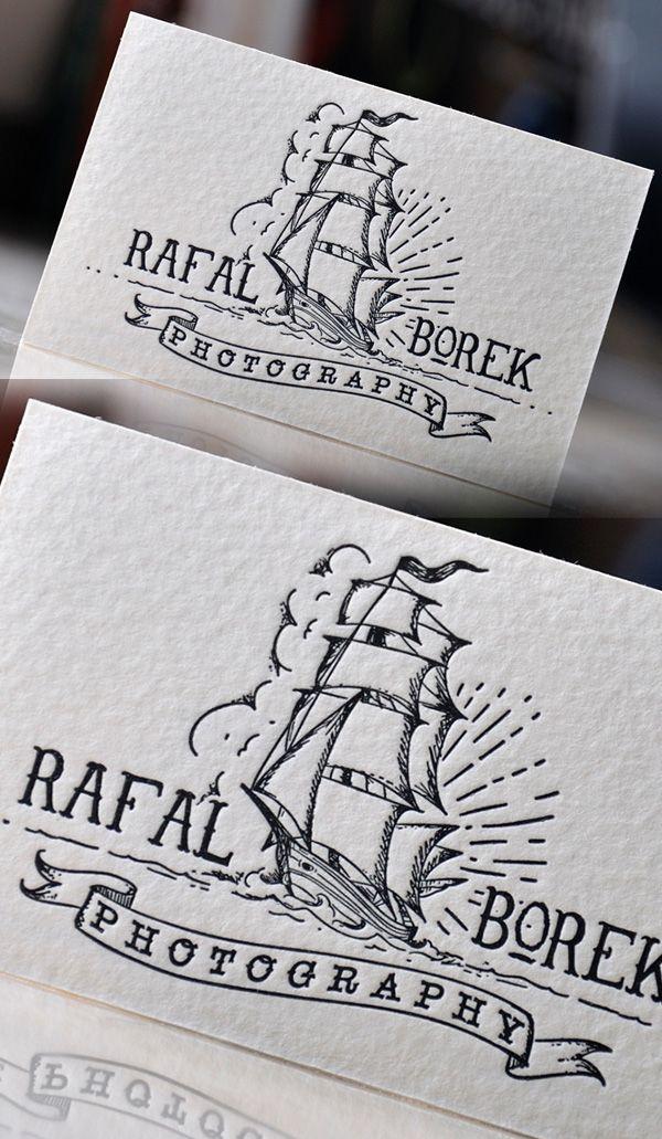 Creative Letterpress Photography Business Card Graphic Design - letterpress business card