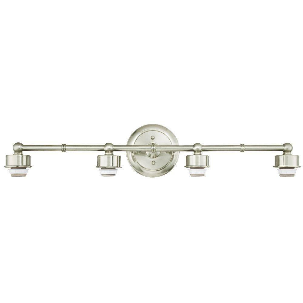 Westinghouse 4 Light Brushed Nickel Wall Fixture 6310800 The Home Depot