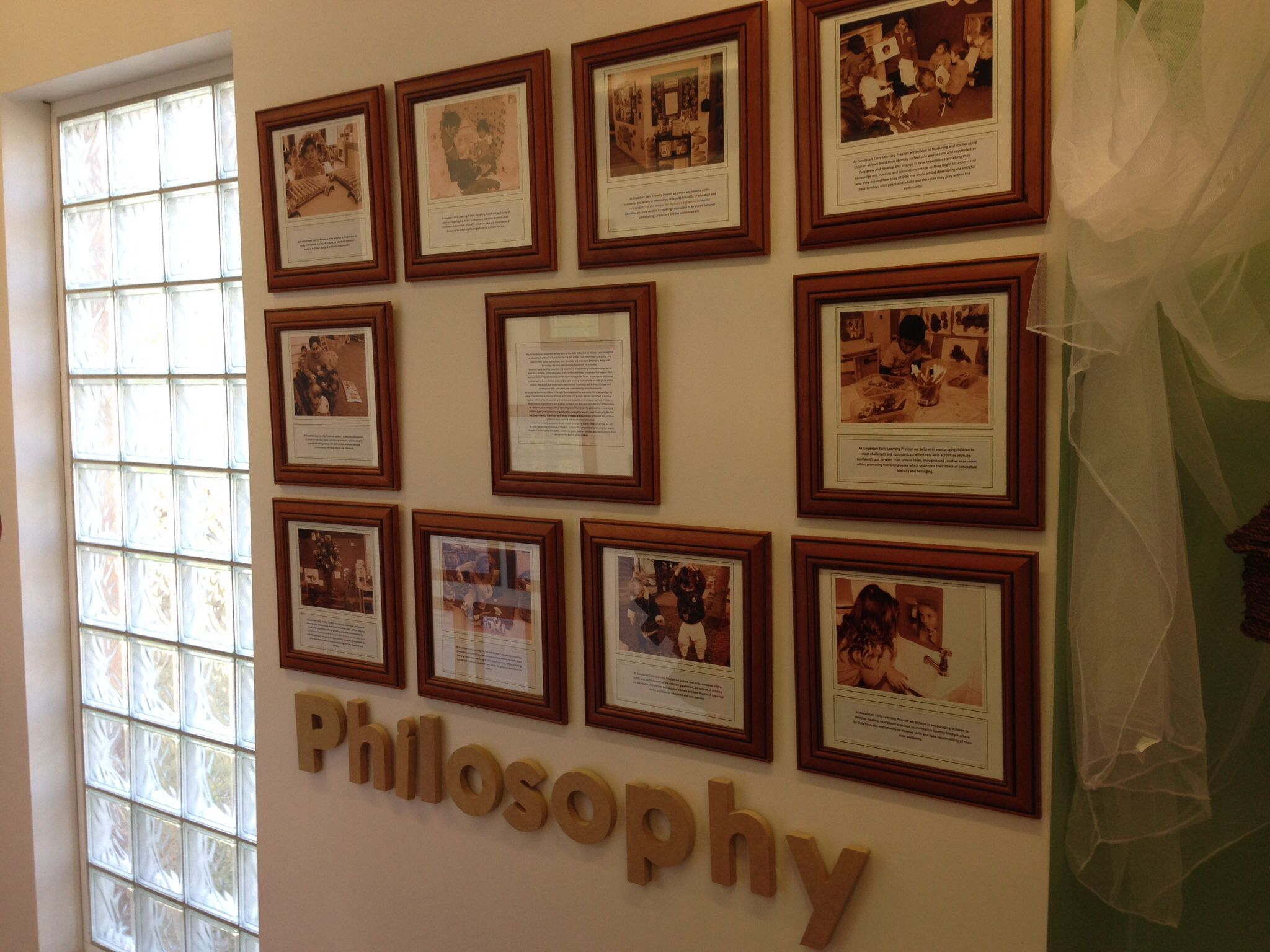 Philosophy Statement Displayed For Families