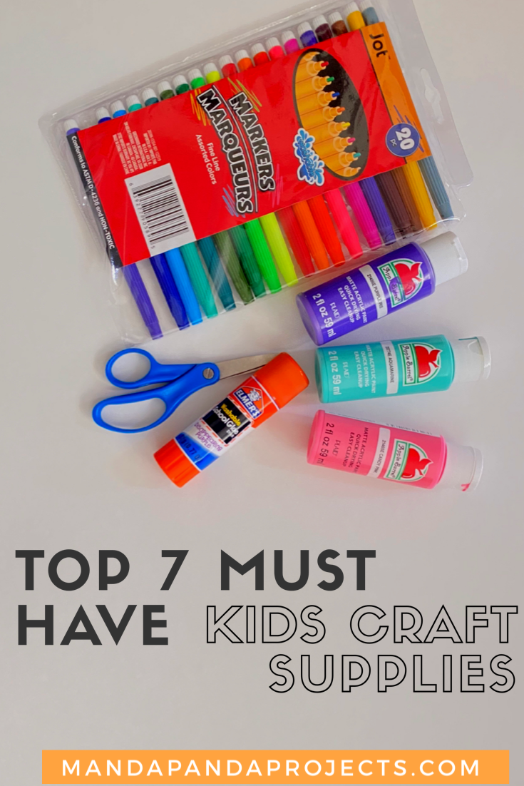 Whether you are just getting started as a beginner crafter, or you and your kiddos are on your 3rd craft project of the week, you can't live without these 8 basic kids craft supplies if you want to live a crafty life you love! #kidscrafts #craftsupplies #craftymom