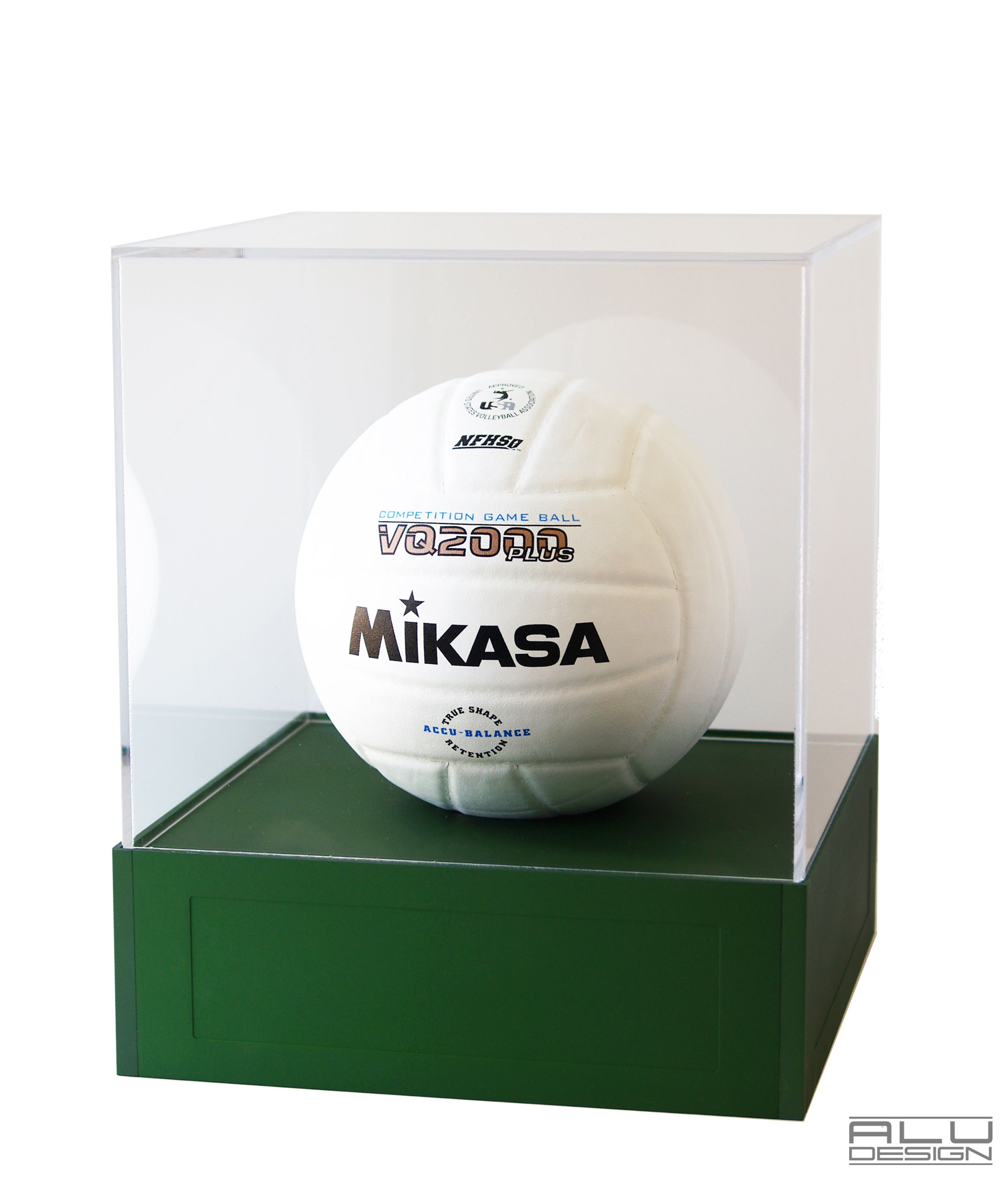 Volleyball Display Case Cnc Machined Anodized Aluminum Green Available In Various Colors We Can Add Your Team Logo Or Spec Display Case Laser Engraving Display