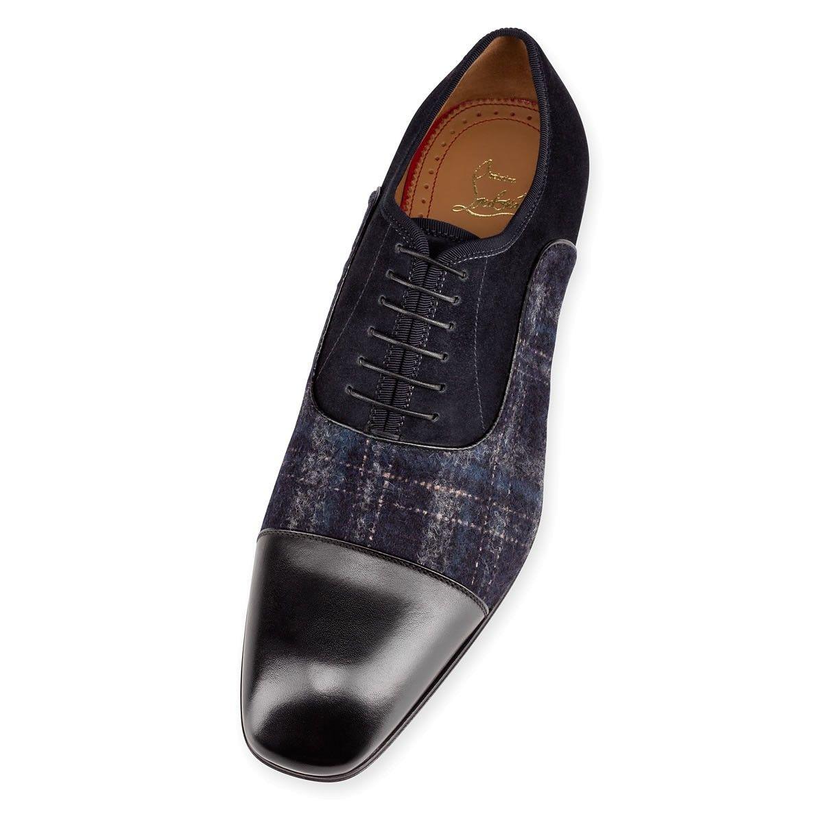 4dd85b42bc6 Greggo Flat Black Navy Cotton - Men Shoes - Christian Louboutin