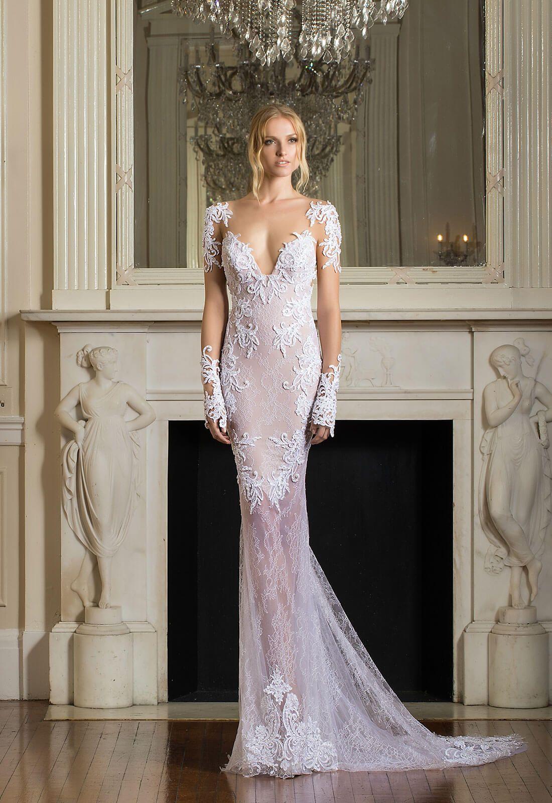 Pnina tornai sexy sheath wedding dress 11500 kleinfeld for Kleinfeld wedding dress designers