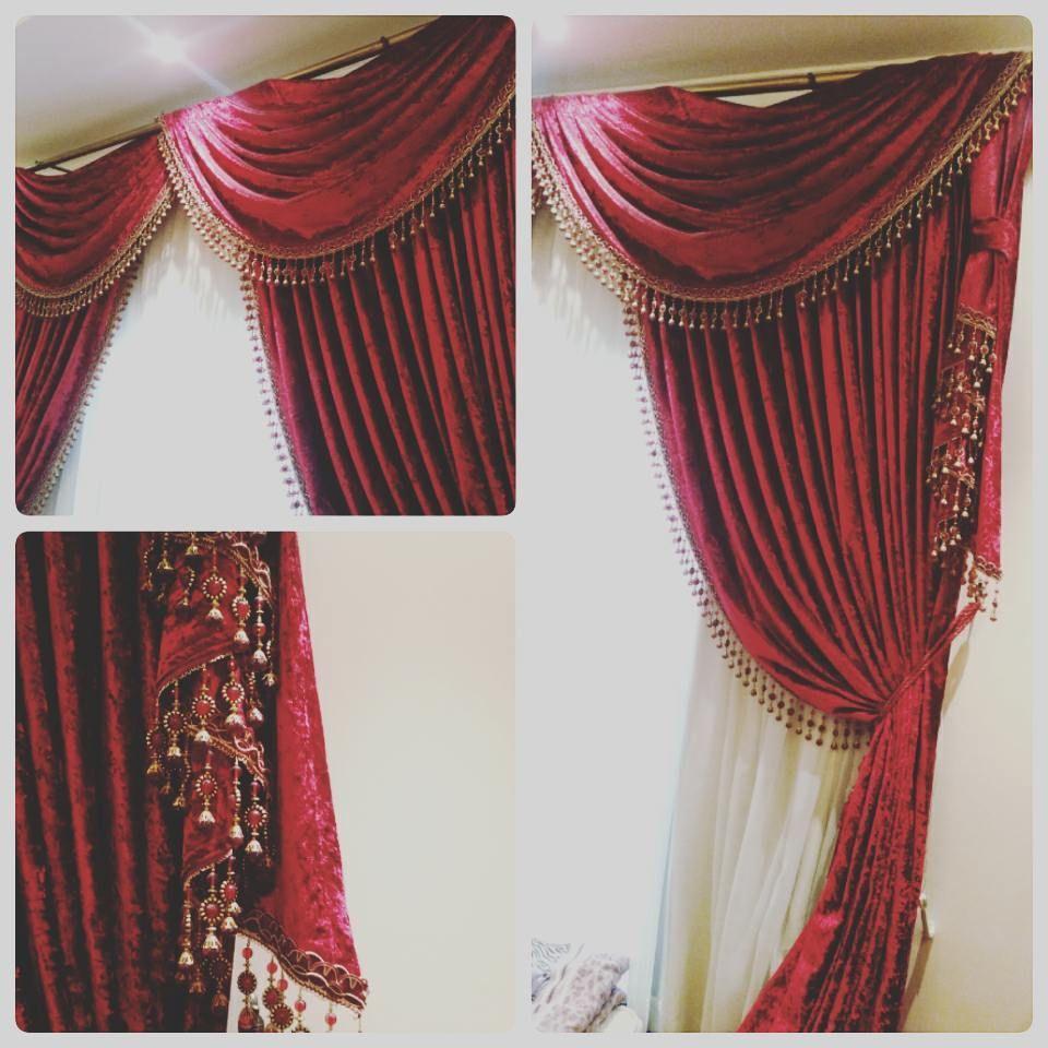 For Sale Curtain Window Red Color Size 280x260 Price 35 Bd للبيع ستارة لون احمر مقاس 280x260 بحالة ممتازة السعر 35 Bd Home Decor Curtains Decor