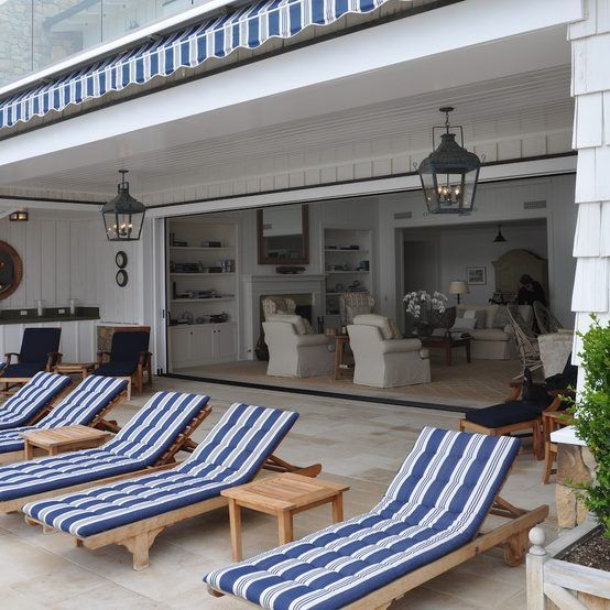 Blue And White Monday. Beautiful Beach HousesBeautiful PoolsOutdoor RoomsIndoor  Outdoor LivingOutdoor ...