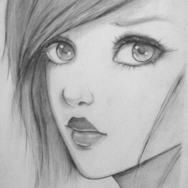 Beautiful | Pencil sketches easy, Easy people drawings