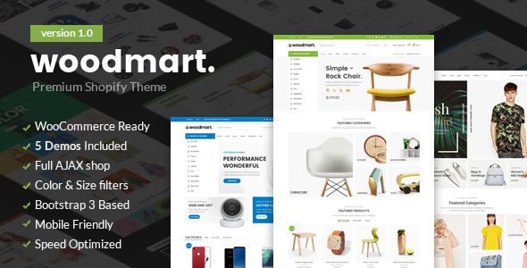 Woodmart - Responsive Shopify Template by obest Responsive Shopify