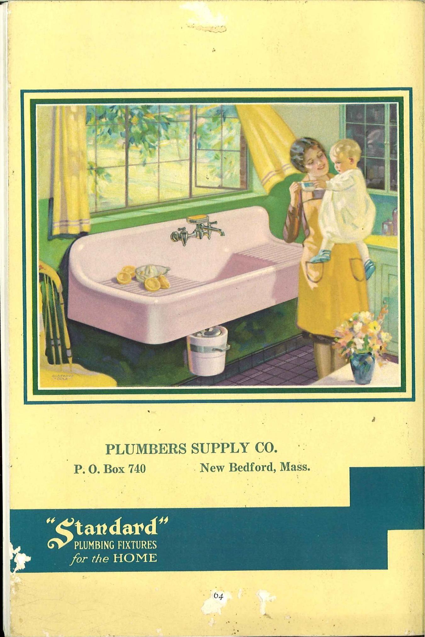 Standard Plumbing Fixtures for the Home, 1930, kitchen. | Vintage ...