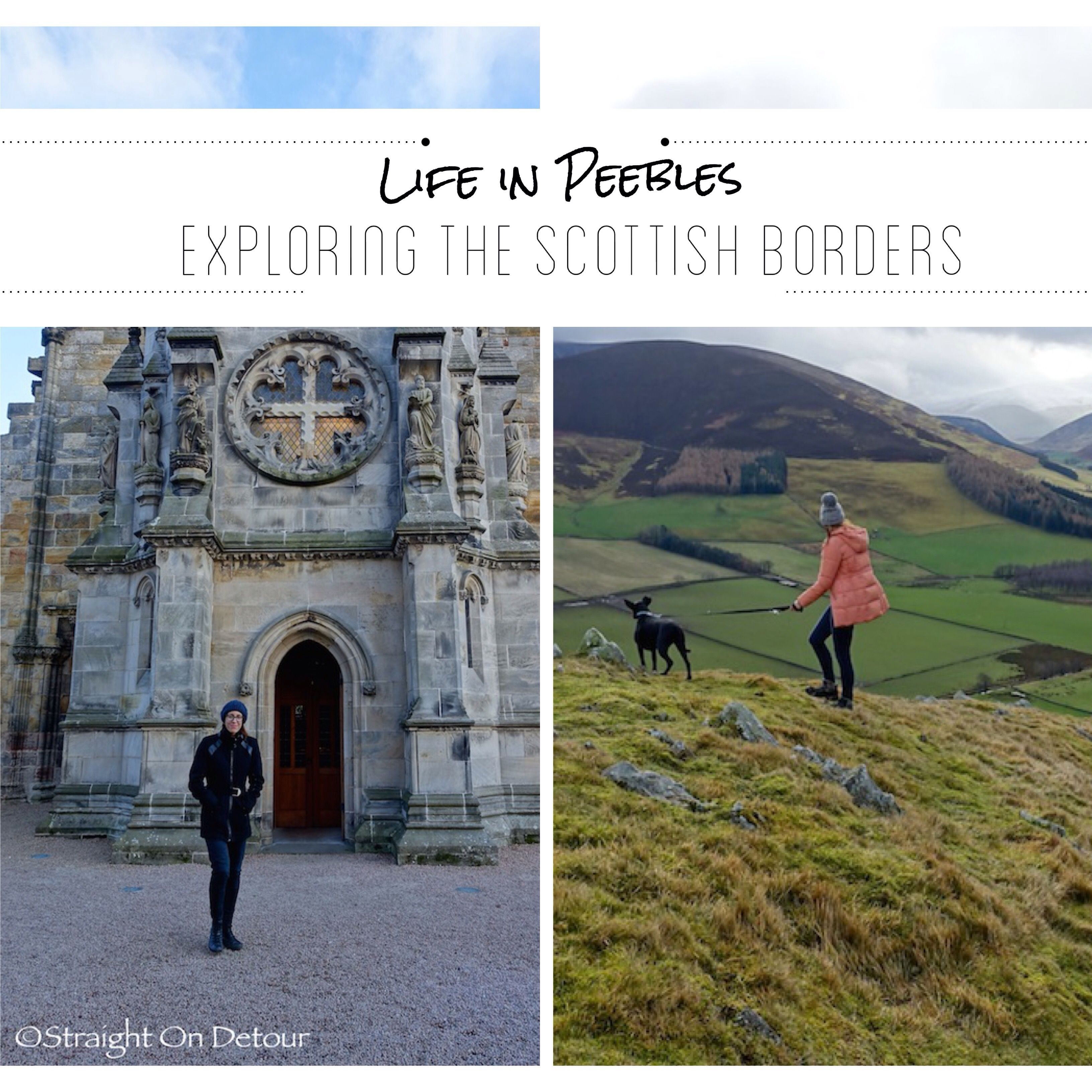 Exploring Peebles, Scotland. Here's what we found to do, walks and off beat adventures.