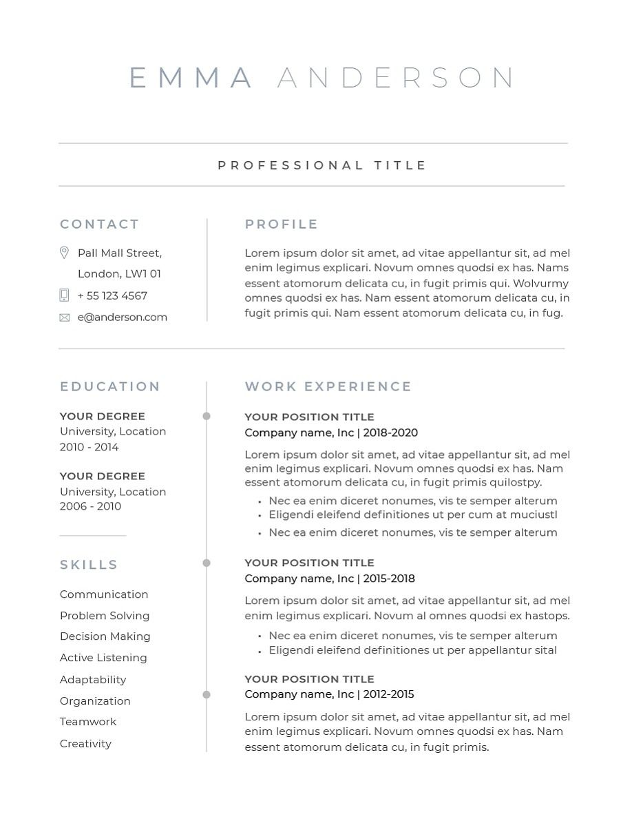 Pin on Resume
