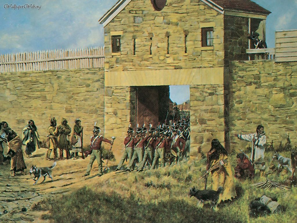 Early American Forts Drawing & Painting Native American