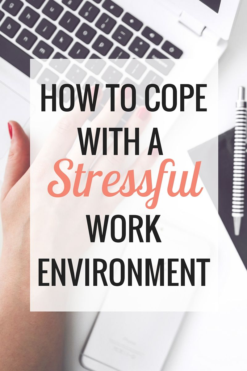 how to deal with stressful situations at work