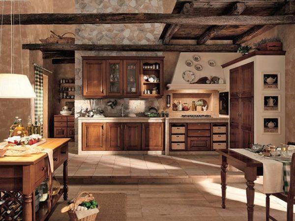 Große Küche Im Landhausstil   Holzmöbel   Die Wohnung Im Landhausstil  Einrichten U2013