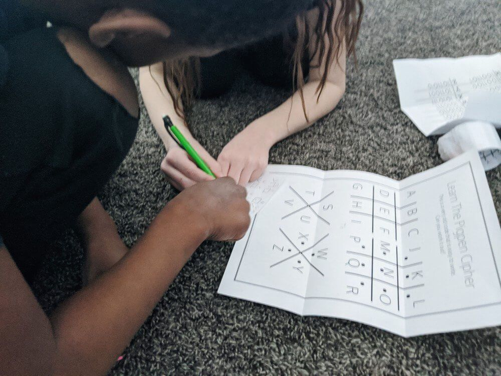 An easy diy escape room for kids an intentional life in