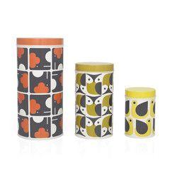 Orla Kiely - Animal Print Assorted Canister Tins