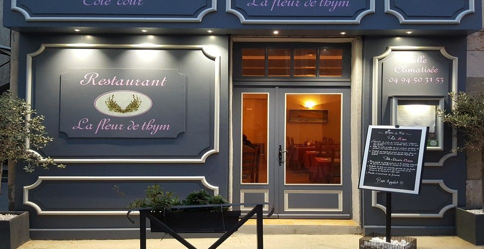 Le menu et la carte du restaurant la fleur de thym   Idées week-end, Restaurant, Menu