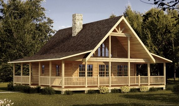 1,207 SF Log Home