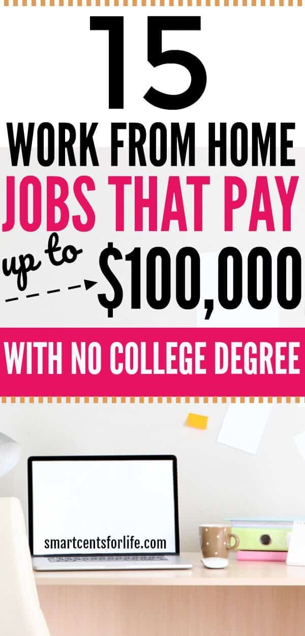 15 Legitimate Work-from-Home Jobs that Pay Up to $100,000+ A Year– With No College Degree
