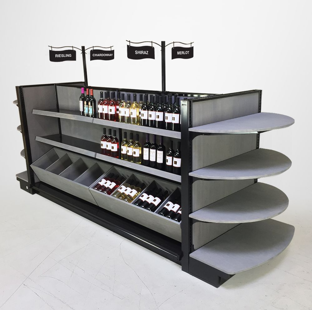 Bordeaux Liquor Store Display Shelving Complete